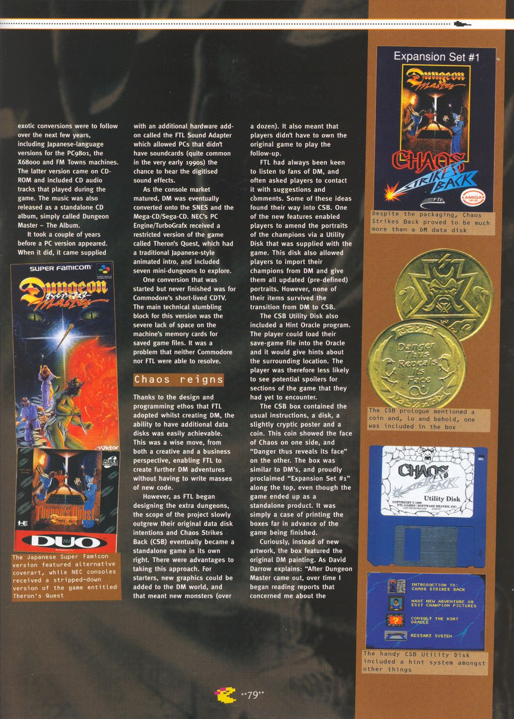 An article titled 'Mastering Chaos', printed in issue 10 of 'Retro Gamer' and written by Richard Hewison Page 08