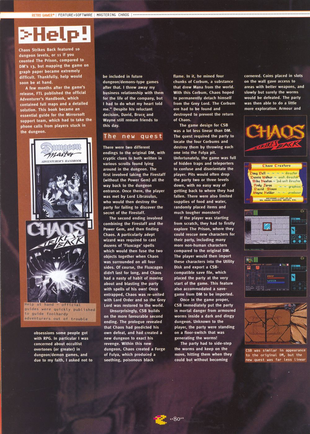 An article titled 'Mastering Chaos', printed in issue 10 of 'Retro Gamer' and written by Richard Hewison Page 09