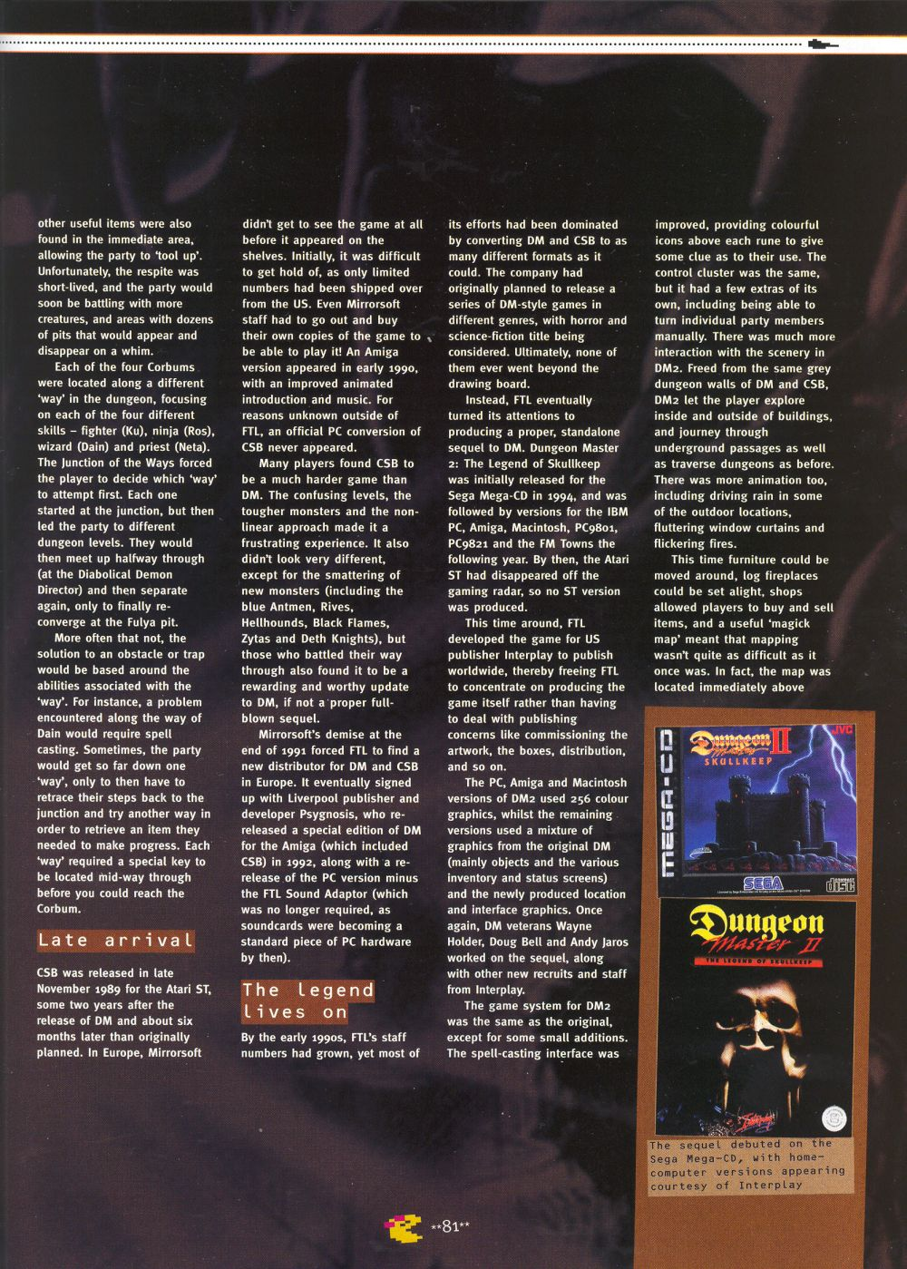 An article titled 'Mastering Chaos', printed in issue 10 of 'Retro Gamer' and written by Richard Hewison Page 10