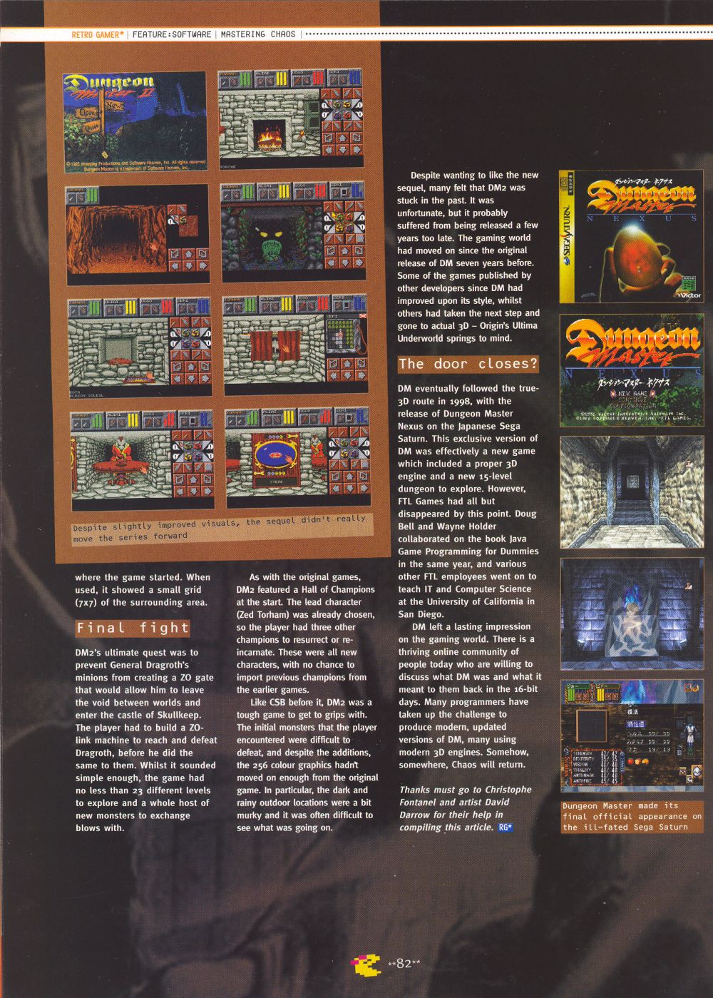 An article titled 'Mastering Chaos', printed in issue 10 of 'Retro Gamer' and written by Richard Hewison Page 11