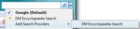 Search in Internet Explorer