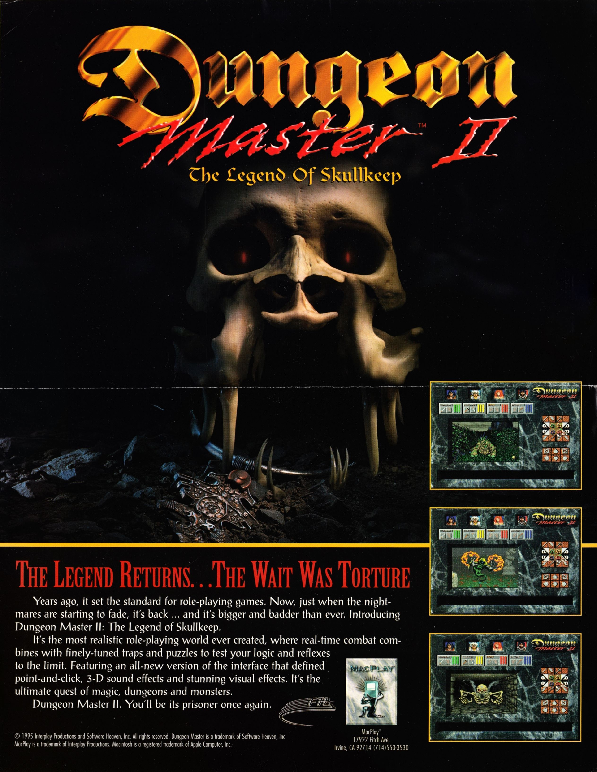 Retailer Kit - Dungeon Master II - US - Macintosh Retailer Flyer - Front - Scan