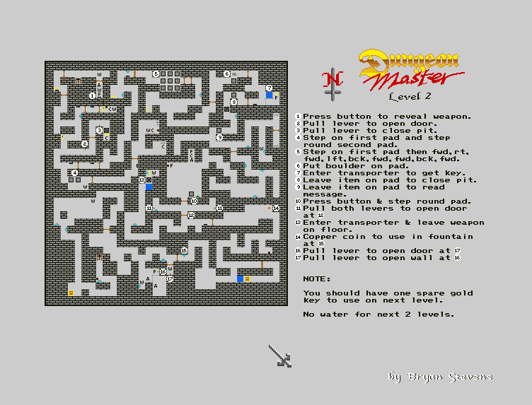 Dungeon Master - The Solution - Screenshot - Map