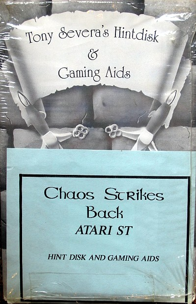 Tony Severa's Hintdisk and Gaming Aids - Chaos Strikes Back for Atari ST - Front