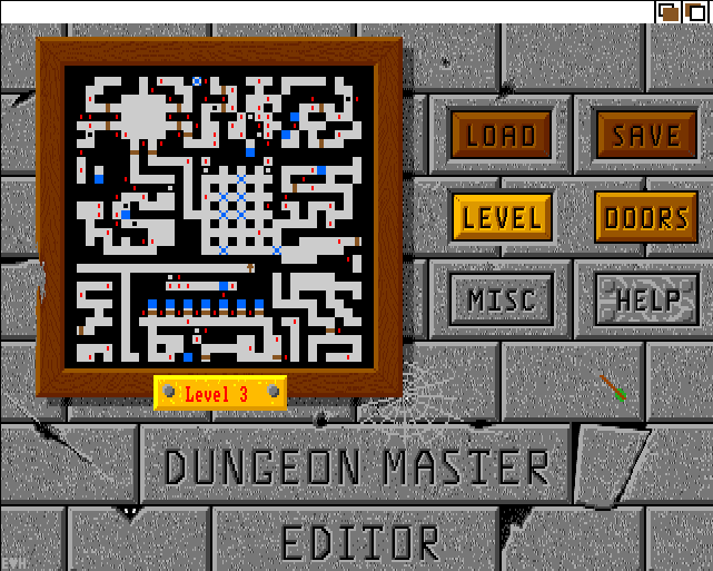 The Dungeon Master Editor v1.1 for Amiga