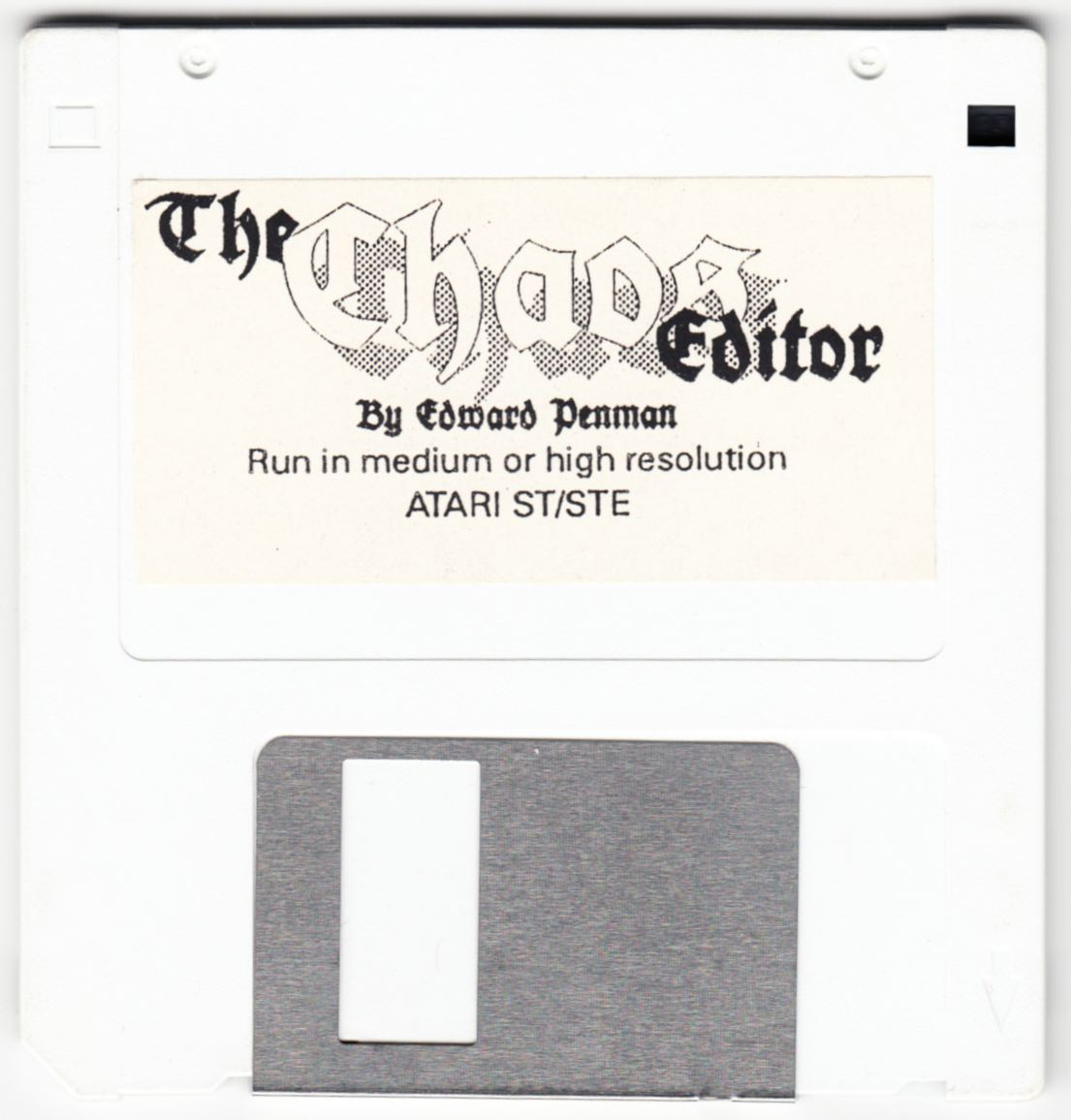 Tool - The Chaos Editor - UK - Atari ST - Disk - Front - Scan