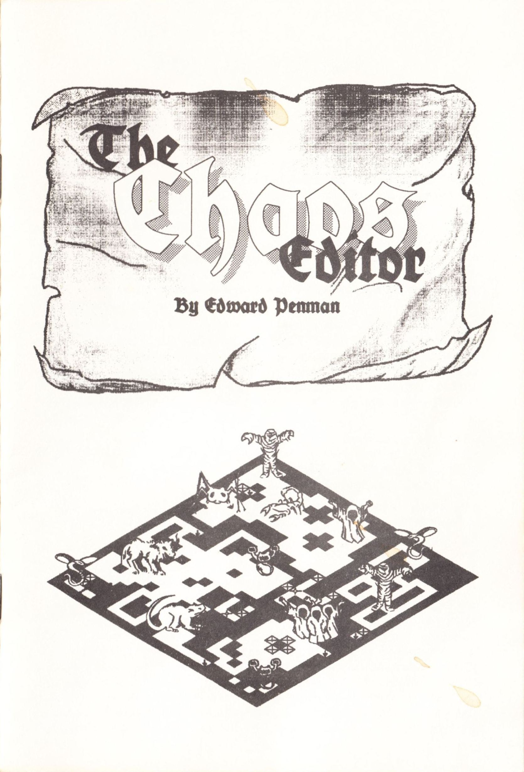 Tool - The Chaos Editor - UK - Atari ST - Manual - Page 001 - Scan