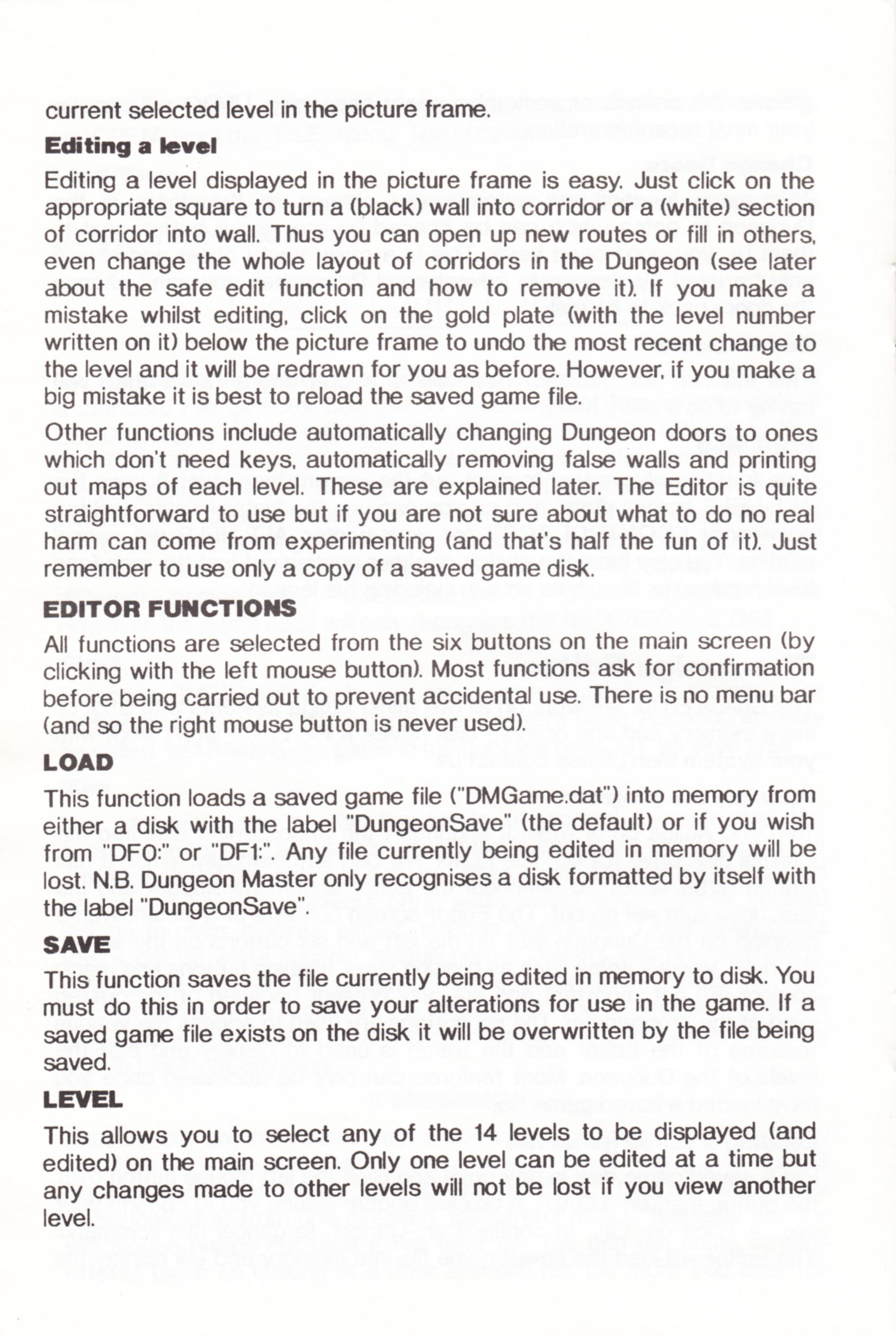 Tool - The Chaos Editor - UK - Atari ST - Manual - Page 018 - Scan