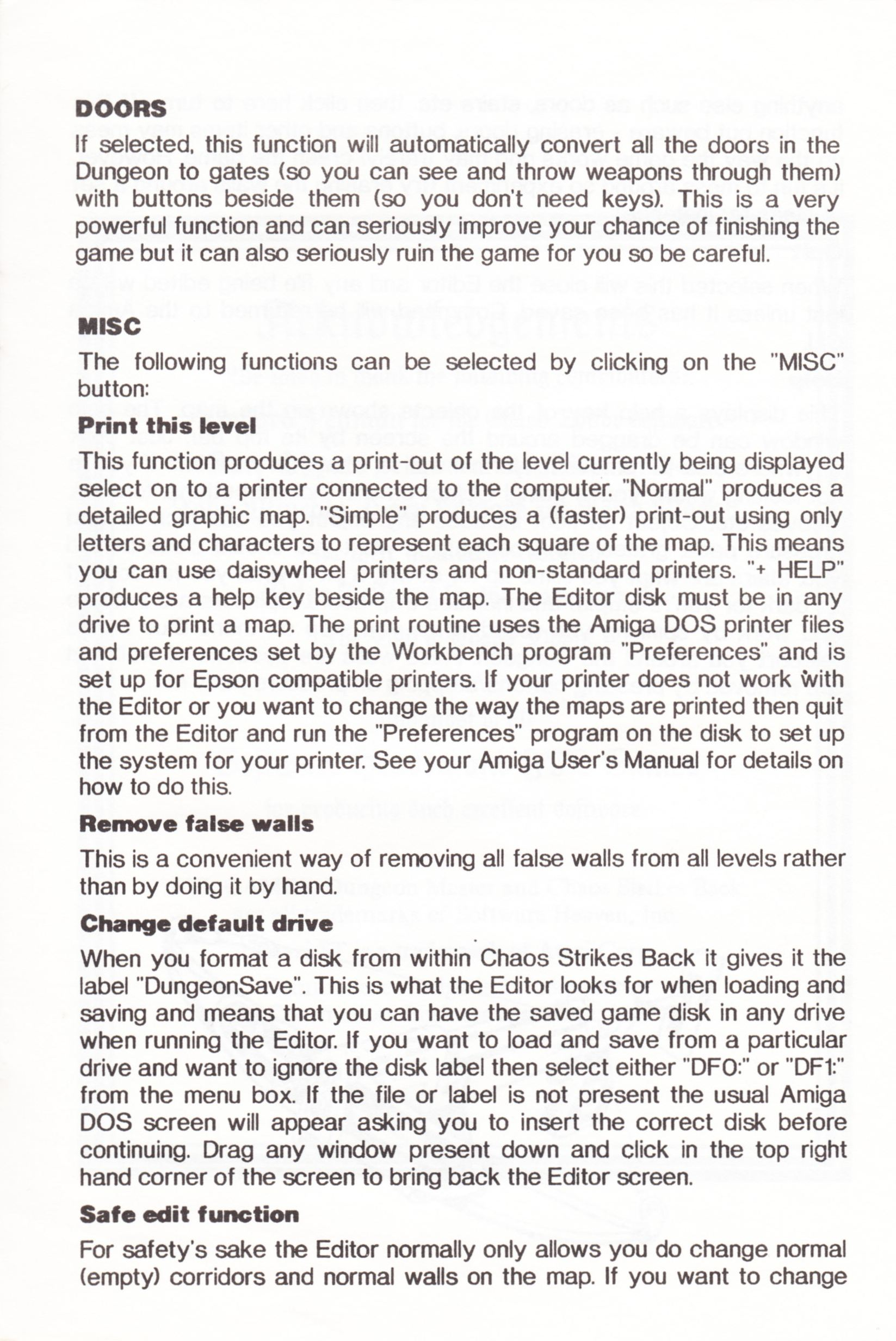 Tool - The Chaos Editor - UK - Atari ST - Manual - Page 019 - Scan