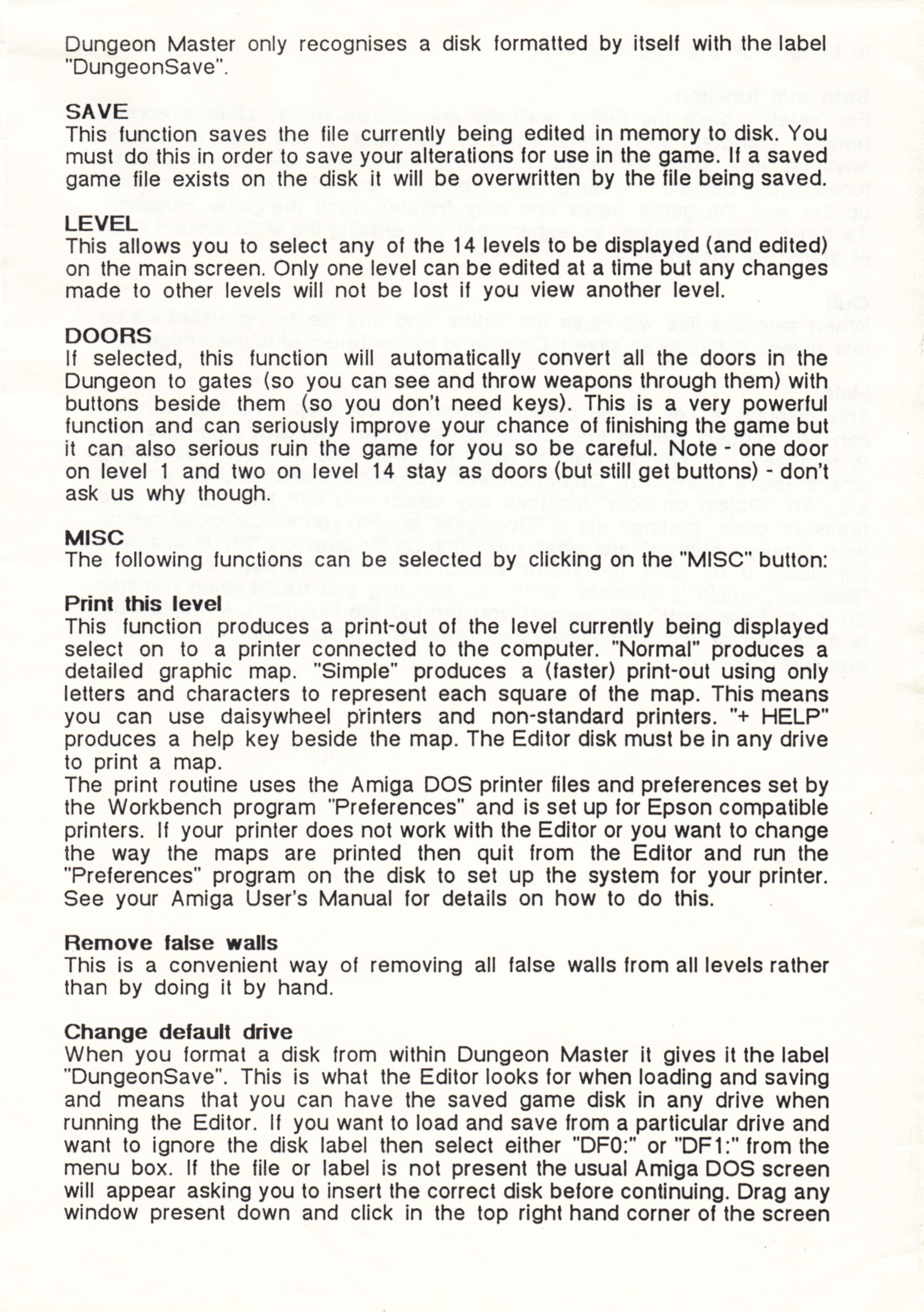 Tool - The Dungeon Master Editor - UK - Amiga - Amiga Manual - Page 003 - Scan
