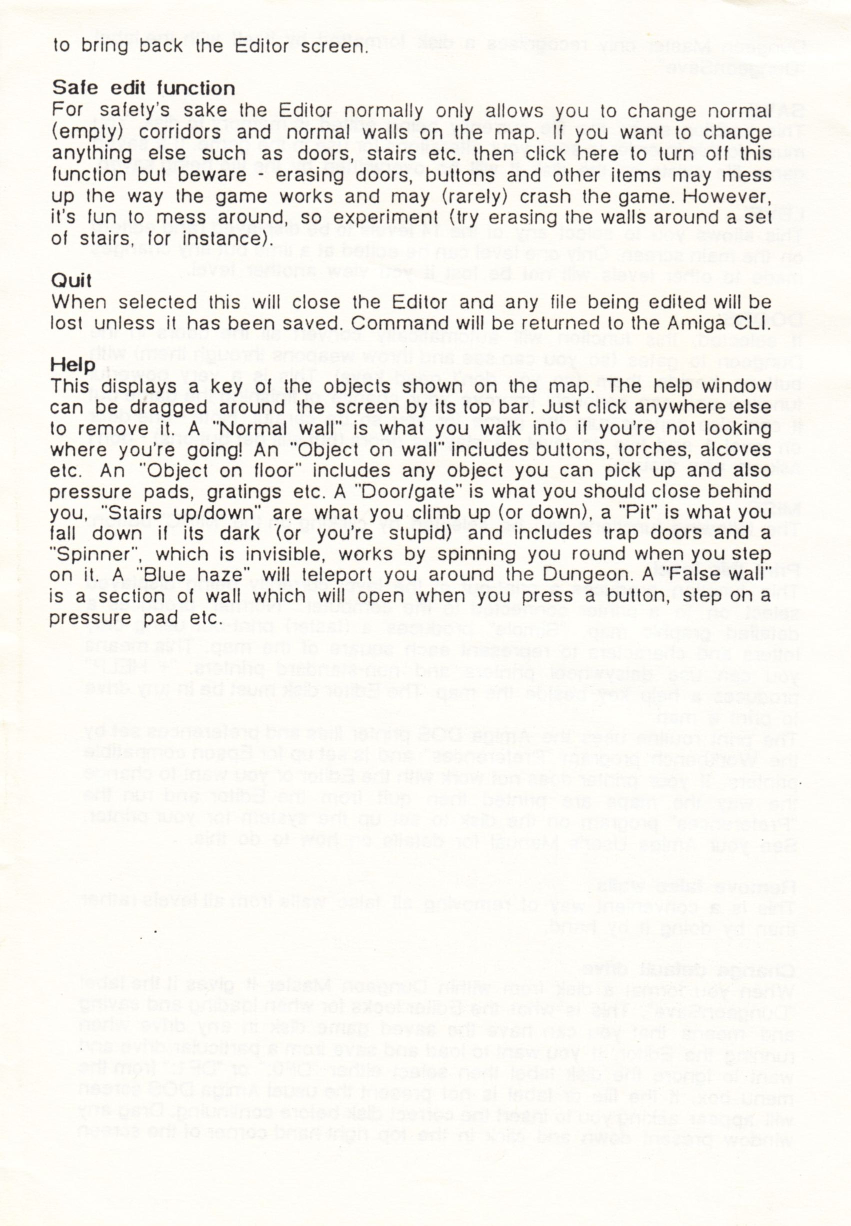 Tool - The Dungeon Master Editor - UK - Amiga - Amiga Manual - Page 004 - Scan