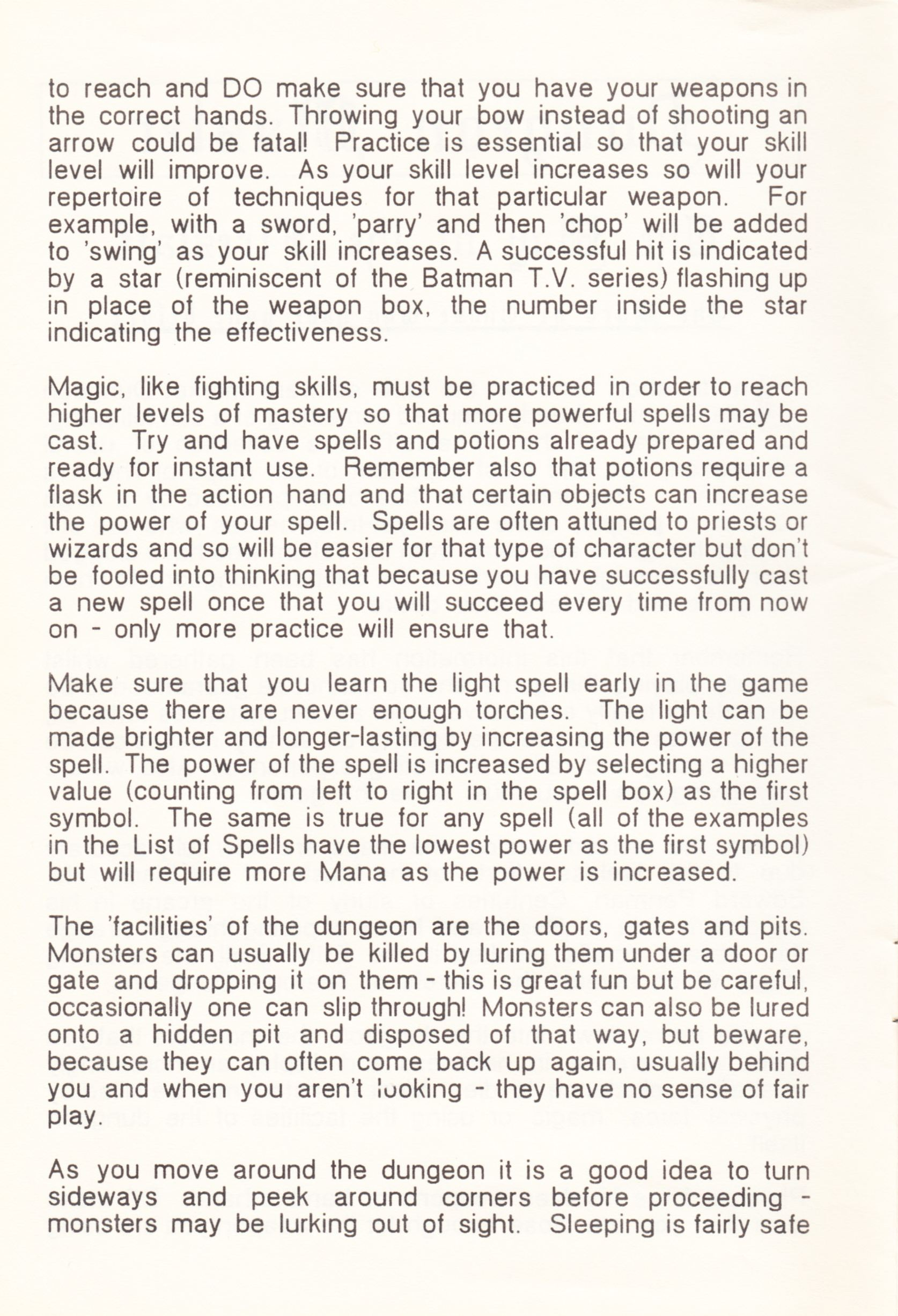 Tool - The Dungeon Master Editor - UK - Amiga - Atari ST Manual - Page 004 - Scan