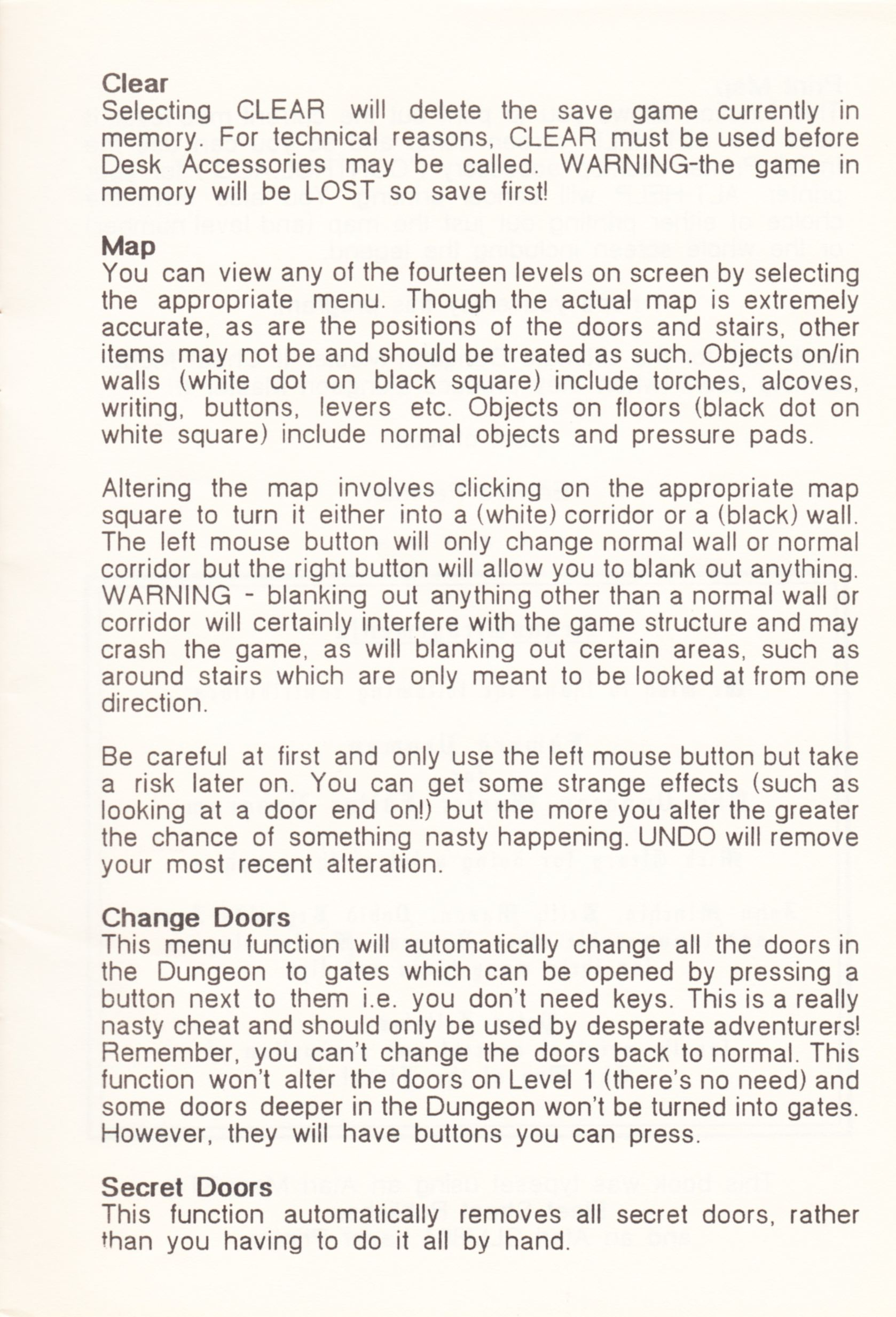 Tool - The Dungeon Master Editor - UK - Amiga - Atari ST Manual - Page 021 - Scan