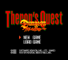 Theron's Quest for TurboGrafx / PC Engine Screenshot - Main menu